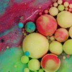Sich Großaufnahme vermischende Farben