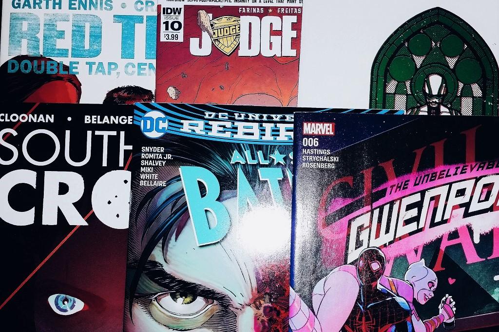 Mein Comic Haul vom 21. September 2016 (All-Star Batman, Judge Dredd, Karnak, Southern Cross, Red Team, Gwenpool)