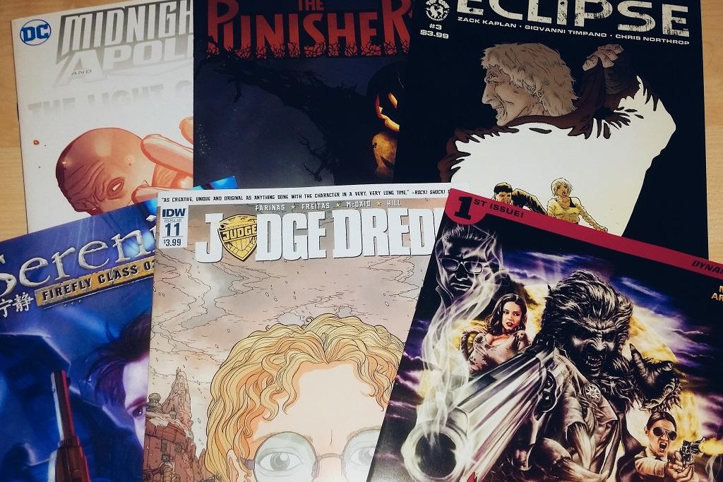 Mein Comic Haul vom 02.11.2016 (Eclipse, Judge Dredd, Midnighter, Serenity, Punisher, Wolfcop)