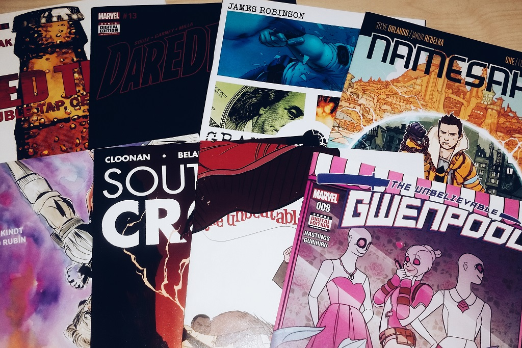 Mein Comic Haul vom 16.11.2016 (Daredevil, Ether, Grand Passion, Namesake, Red Team, Southern Cross, Squirrel Girl, Gwenpool)