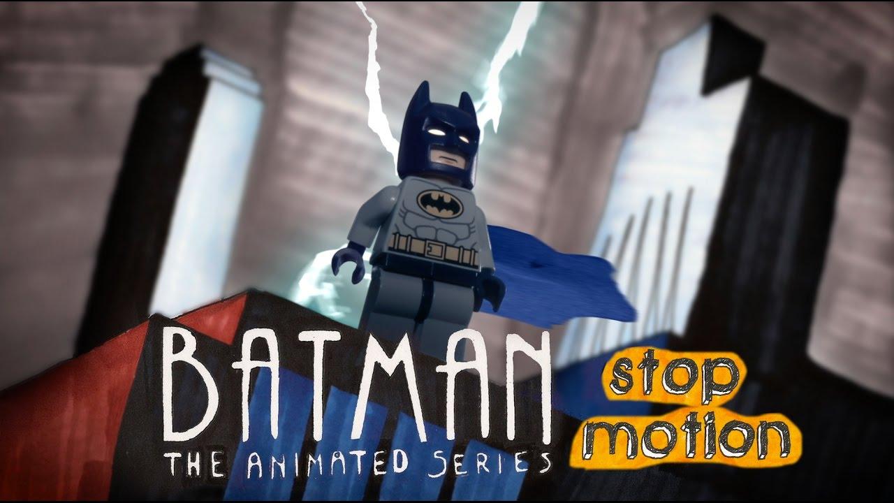Das Intro der animierten Batman-Serie als LEGO-Stop-Motion