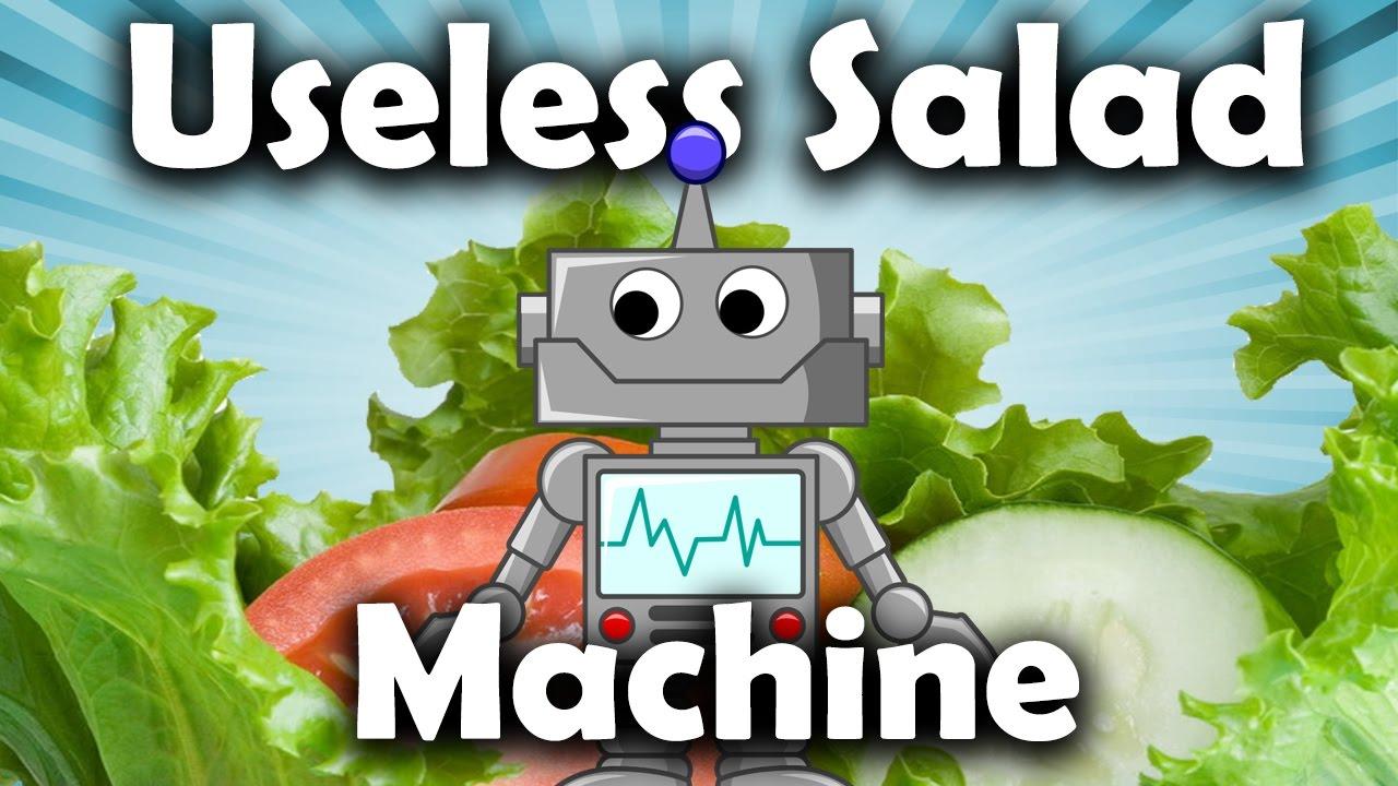 Der Useless Salad Robot möchte deinen Salat mixen