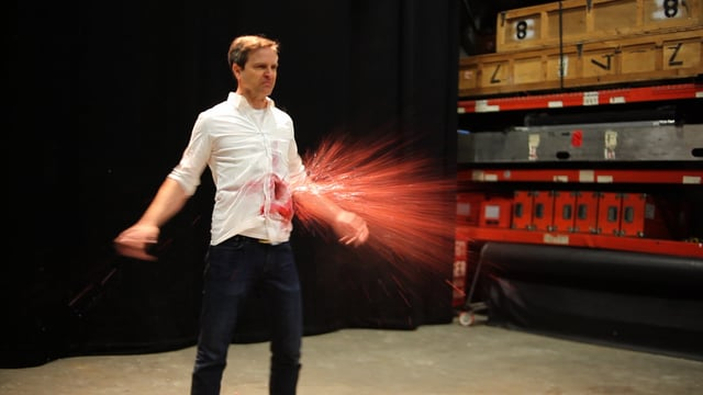 "In ""The Squibbening"" erfüllt sich Matt Gourley den lang gehegten Wunsch endlich mal angeschossen zu werden"