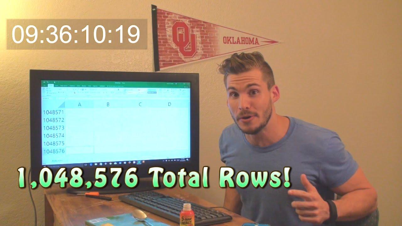 Man kann natürlich 9.5h lang ans Ende einer Excel-Tabelle scrollen, aber kann auch weniger dumm sein
