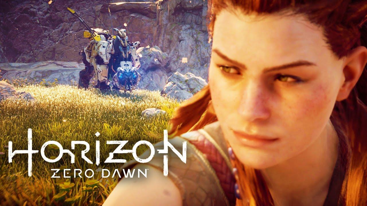 """20 Minuten Gameplay von """"Horizon Zero Dawn"""", das Spiel mit den Roboterdinosauriern"""