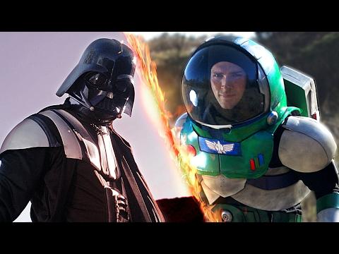 Darth Vader vs. Buzz Lightyear – FIGHT!