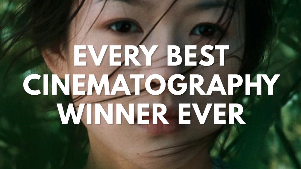 Ein Supercut Filme, die den Oscar für die beste Kamera gewannen