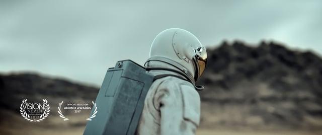 """Im Kurzfilm """"OFF"""" findet ein Astronaut ein Stück seines Raumschiffs und alles ist gut"""