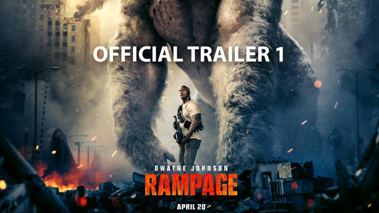 """Im Trailer zu Videospieleverfilmung von """"Rampage"""" legt sich The Rock mit riesigen Tieren an! Und es sieht großartig aus!"""