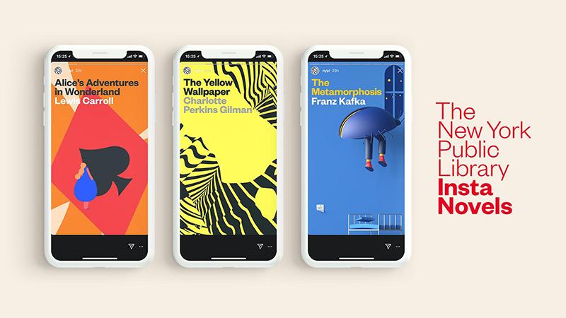 Die New York Public Library macht aus klassischer Literatur Instagram Stories