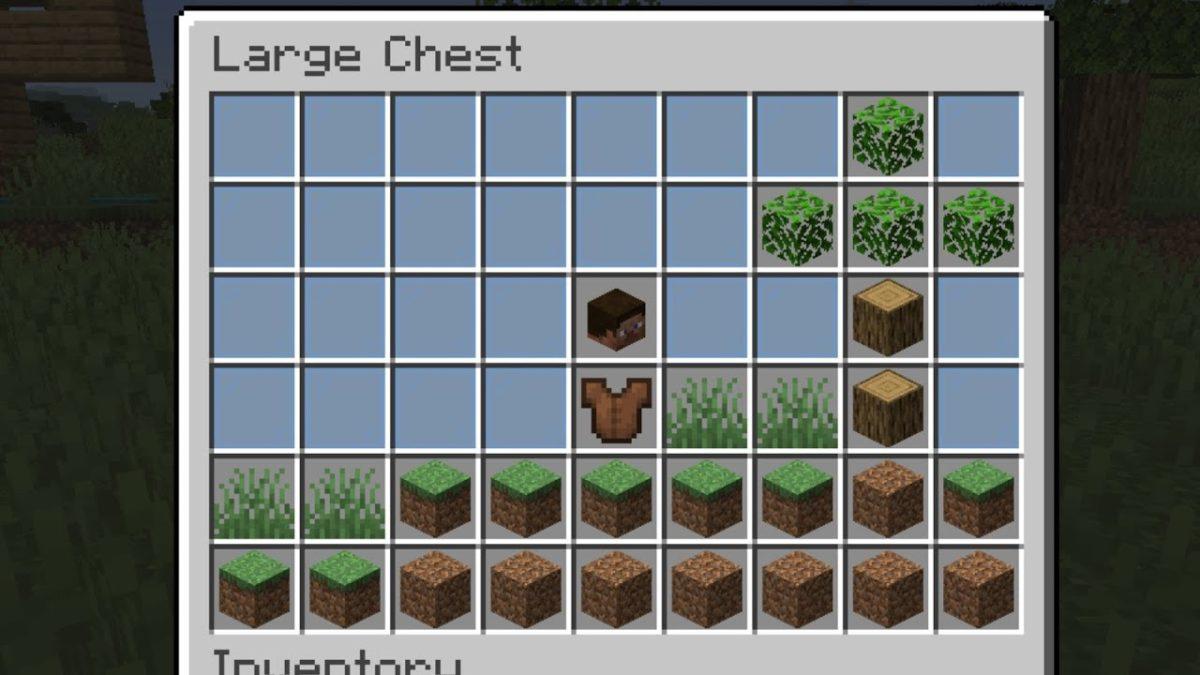 Minecraft, aber in einer Kiste in Minecraft