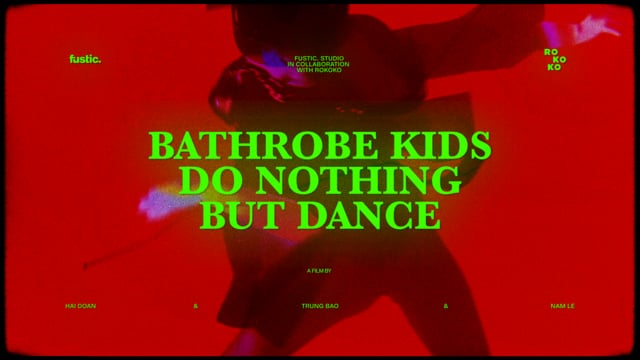 """Bathrobe Kids Do Nothing But Dance"""