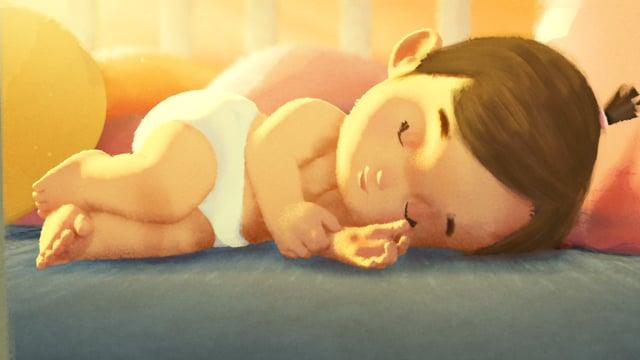 """Im Kurzfilm/Werbespot """"One Word"""" kämpft ein Säugling gegen eine erschreckende Welt voller Monster"""