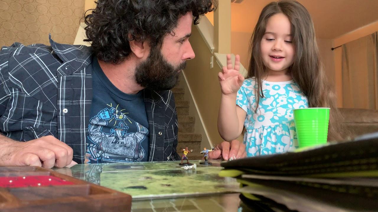 Benjamin spielt mit seiner 3-jährigen Tochter Dungeons and Dragons und es ist irre süß!