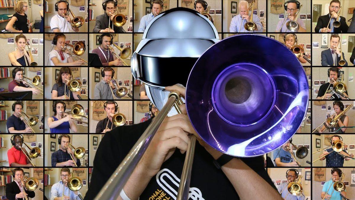 """""""Harder, Better, Faster, Stronger"""" von Daft Punk auf unter anderem 46 Posaunen"""