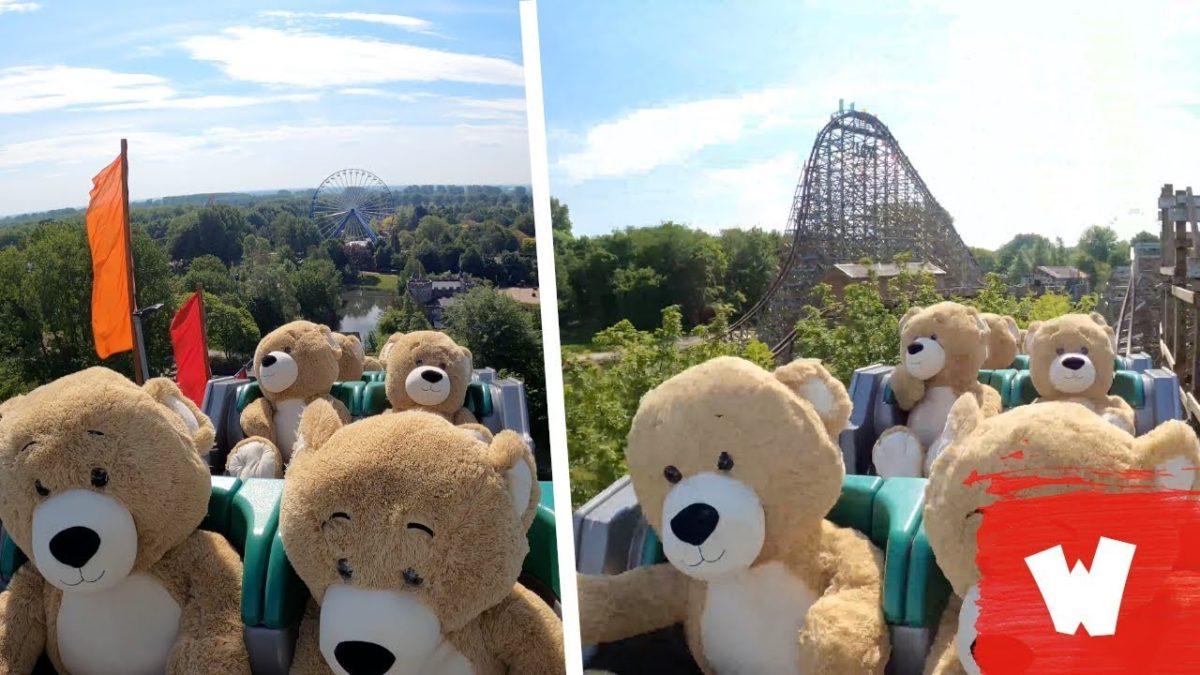 Teddybären in der Achterbahn