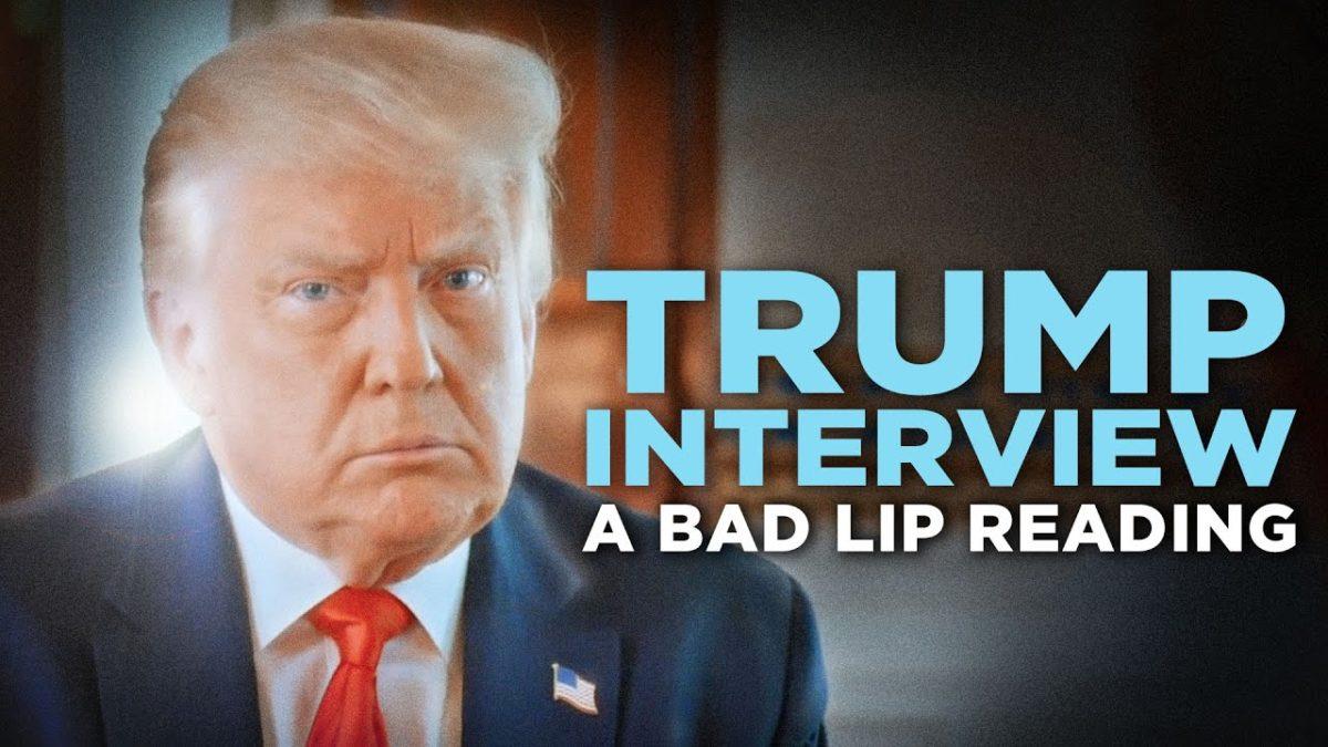 Das HBO-Interview zwischen Jonathan Swan und Donald Trump – aber als Bad Lip Reading