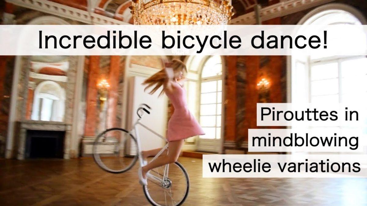Viola Brand zeigt uns ihre Fahrrad-Ballett-Künste