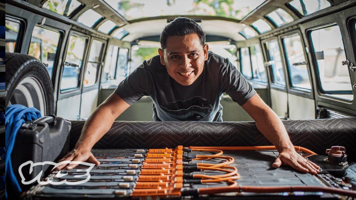 Wie hier jemand sein Haus mit alten Laptop-Batterien versorgt
