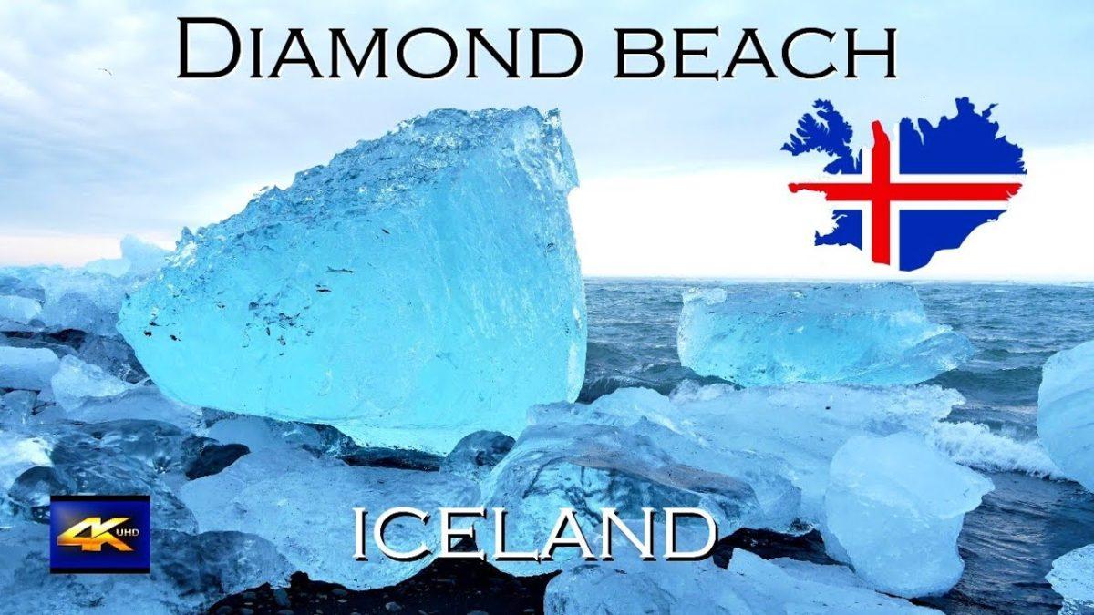 Der Diamond Beach in Island, aber in 4K