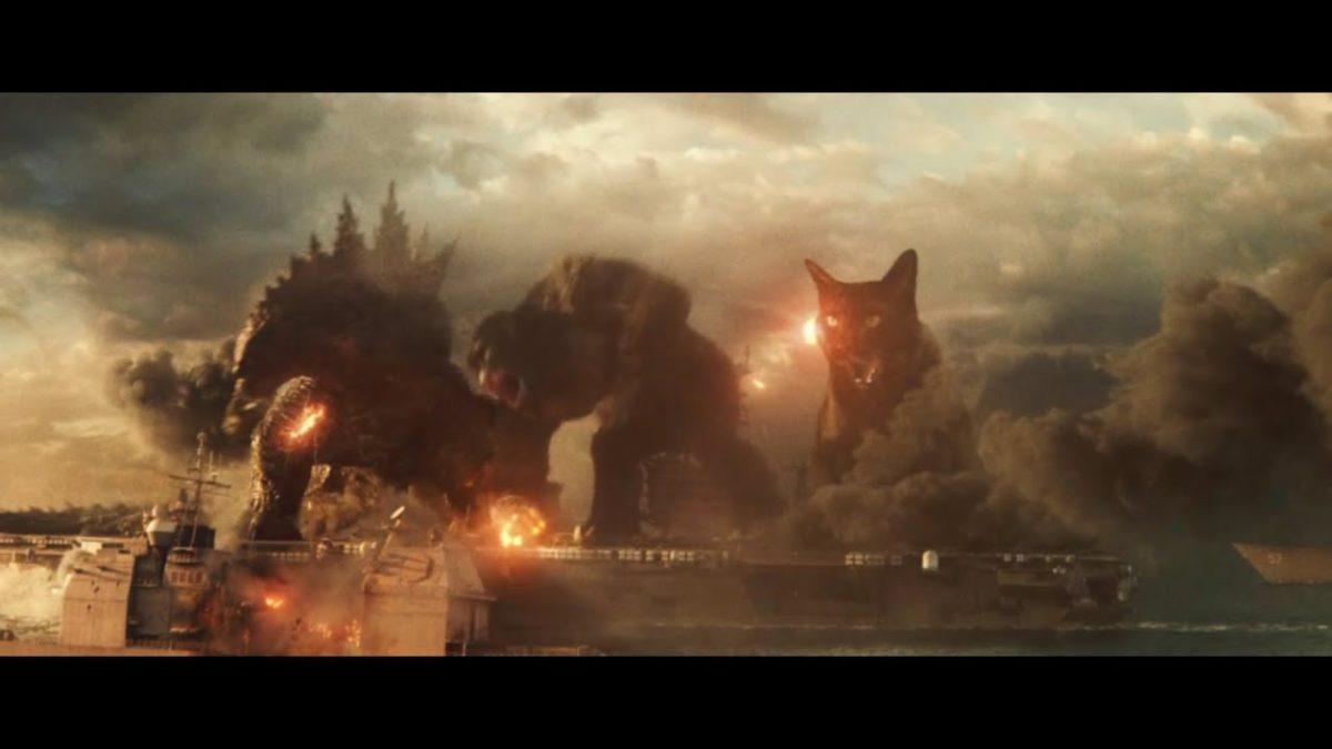 Godzilla vs. Kong vs. Wayne the cat