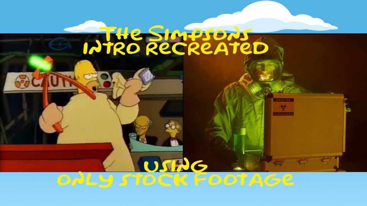 """Das Intro von """"The Simpsons"""", aber nur mit Stock Footage"""