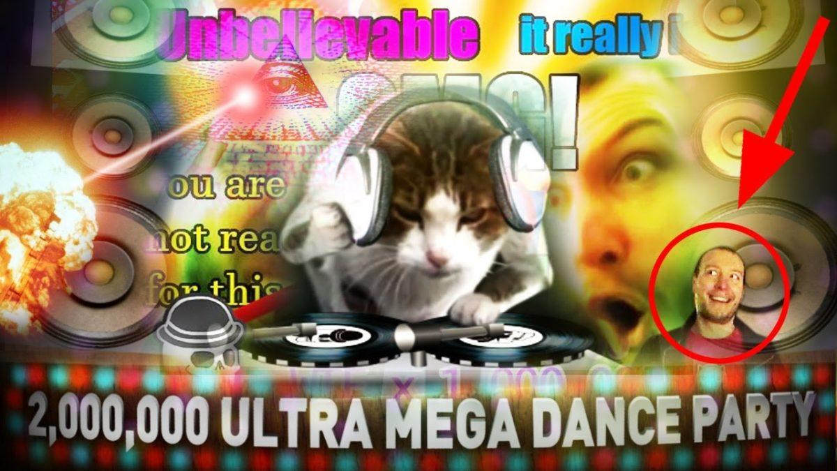 """""""2,000,000 Ultra Mega Dance Party"""" von Cyriak und seiner Katze"""