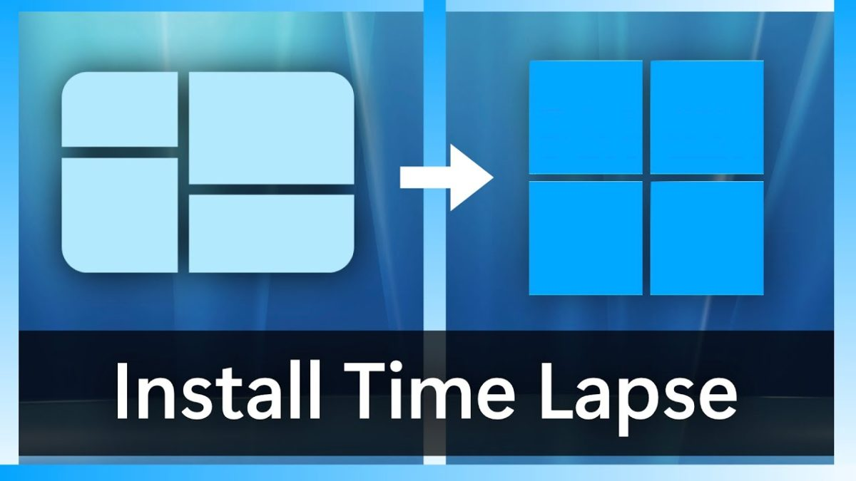Windows installieren von 1.01 bis 11 im Zeitraffer
