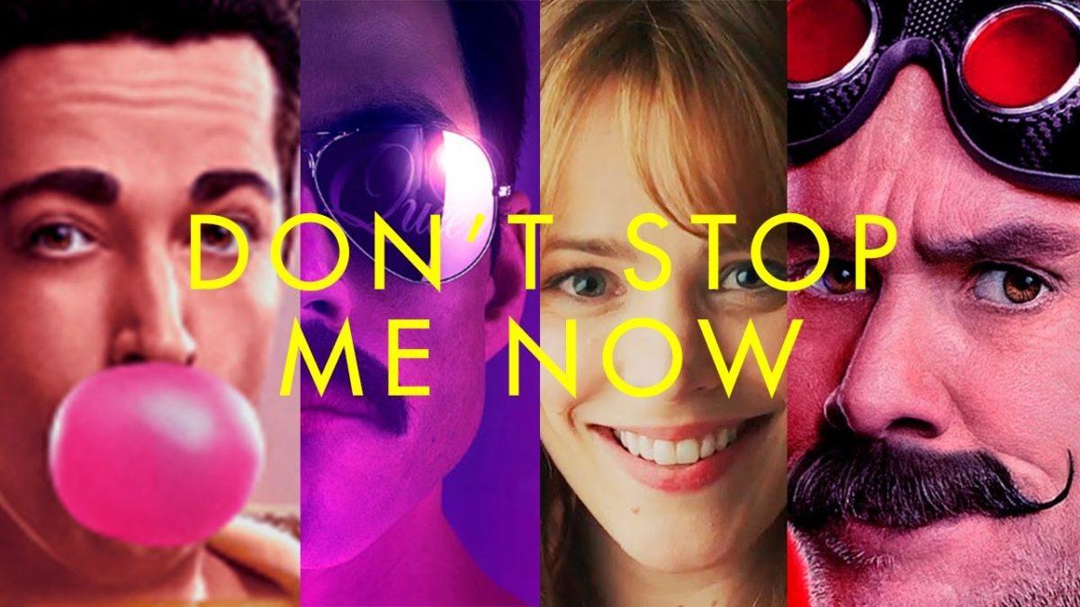 """Eine Montage von Filmen, die """"Don't Stop Me Now"""" von Queen benutzen"""